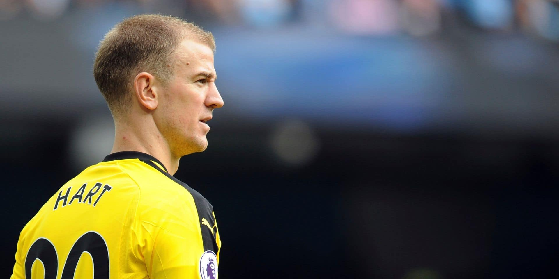 Burnley goalkeeper Joe Hart looks out during the English Premier League soccer match between Manchester City and Burnley at Etihad stadium in Manchester, England, Saturday, Oct. 20, 2018. (AP Photo/Rui Vieira)