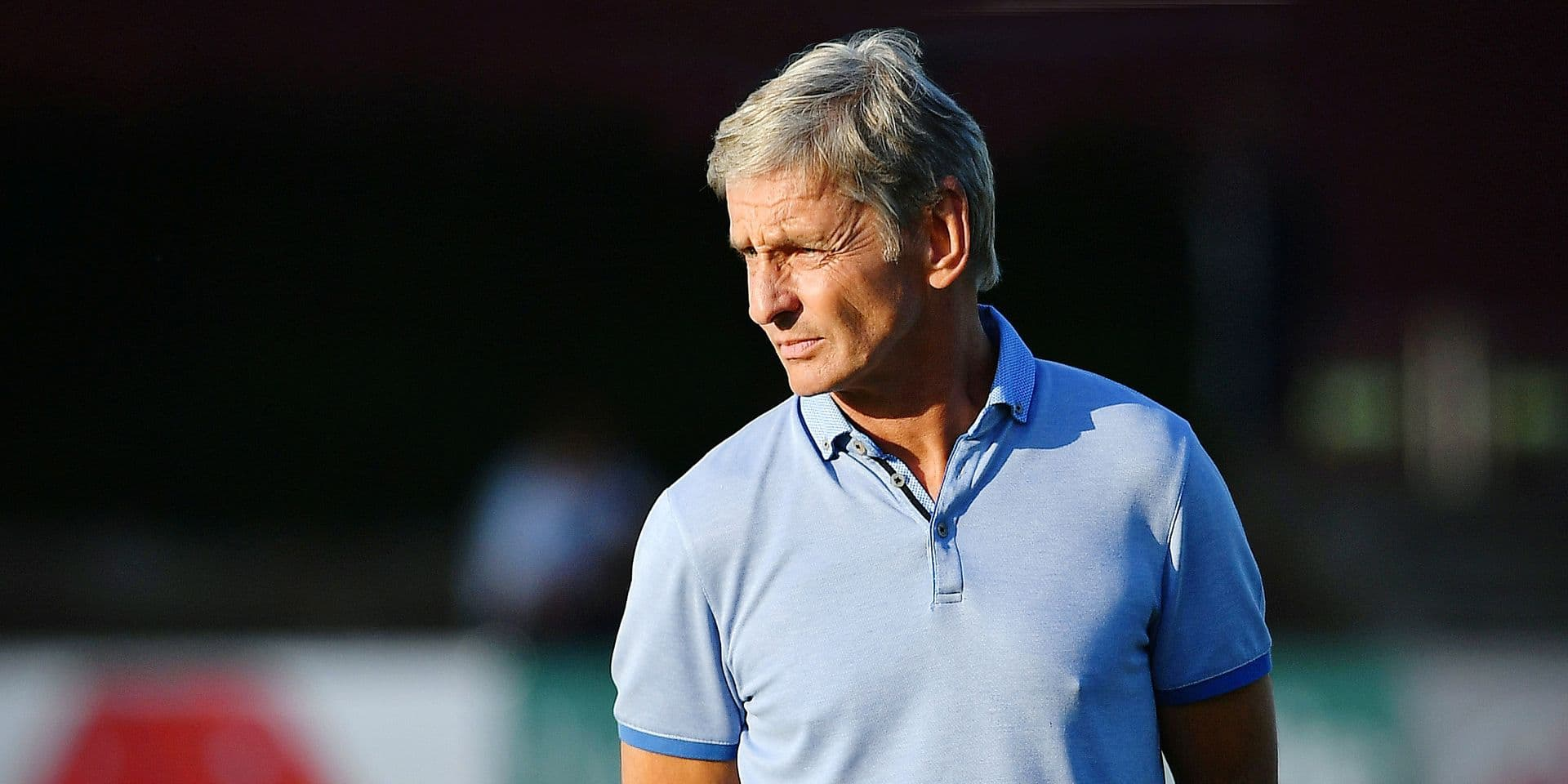 Cercle's head coach Jose Riga pictured during a friendly soccer game between KSV Oudenaarde and 1b Proximus League team Cercle Brugge in Oudenaarde, Wednesday 05 July 2017. BELGA PHOTO DAVID STOCKMAN