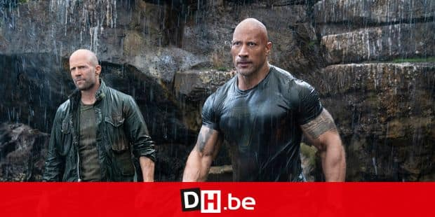 (from left) Deckard Shaw (Jason Statham) and Luke Hobbs (Dwayne Johnson) in Fast & Furious Presents: Hobbs & Shaw, directed by David Leitch.
