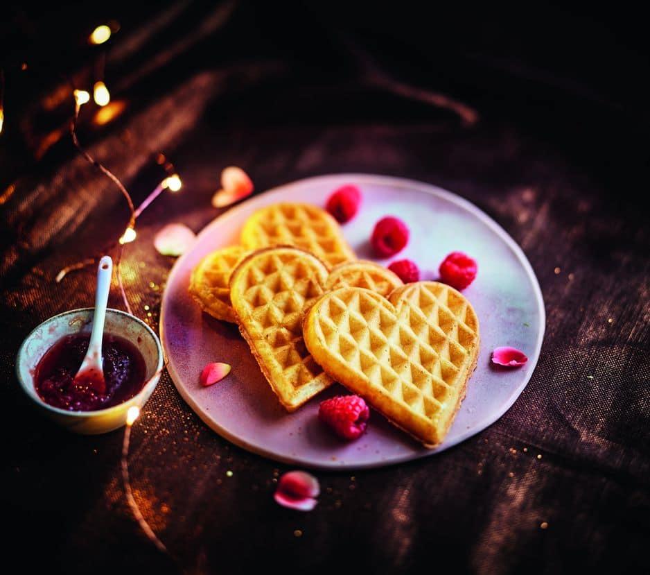 Pas très St-Valentin ? Pour le clin d'oeil ces petites gaufres en forme de ceour Picard à faire réchauffer au toaster !