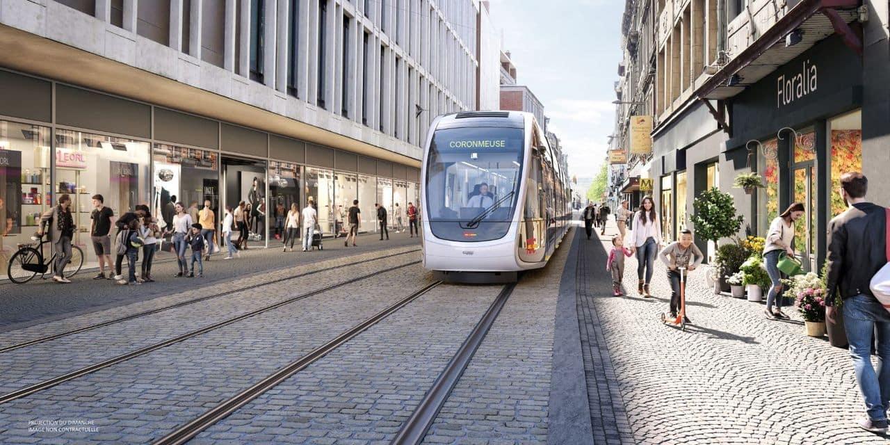 Tram de Liège : suite des travaux de sondage en Féronstrée