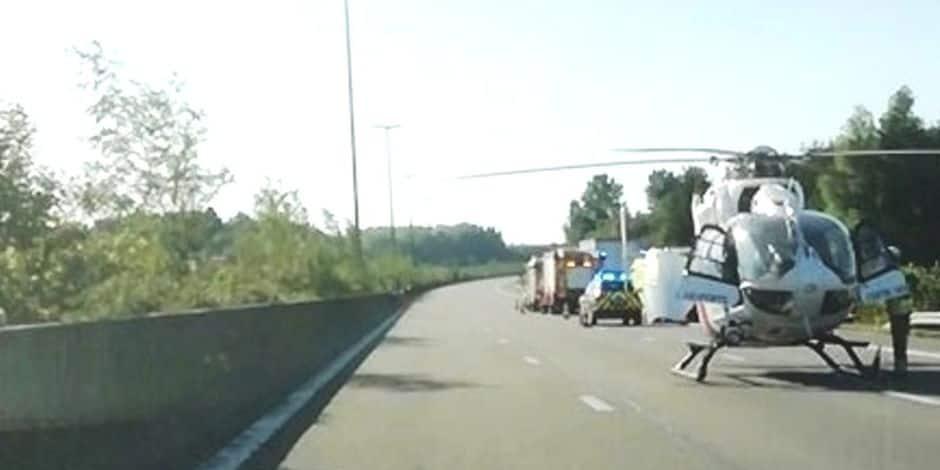 Accident sur l'autoroute E 411 : deux blessés graves
