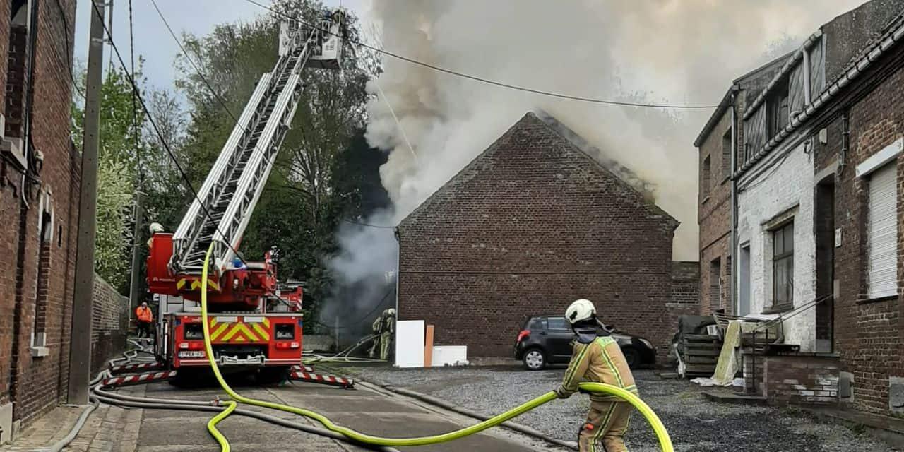 Quaregnon : Cinq chiens perdent la vie dans l'incendie d'une maison