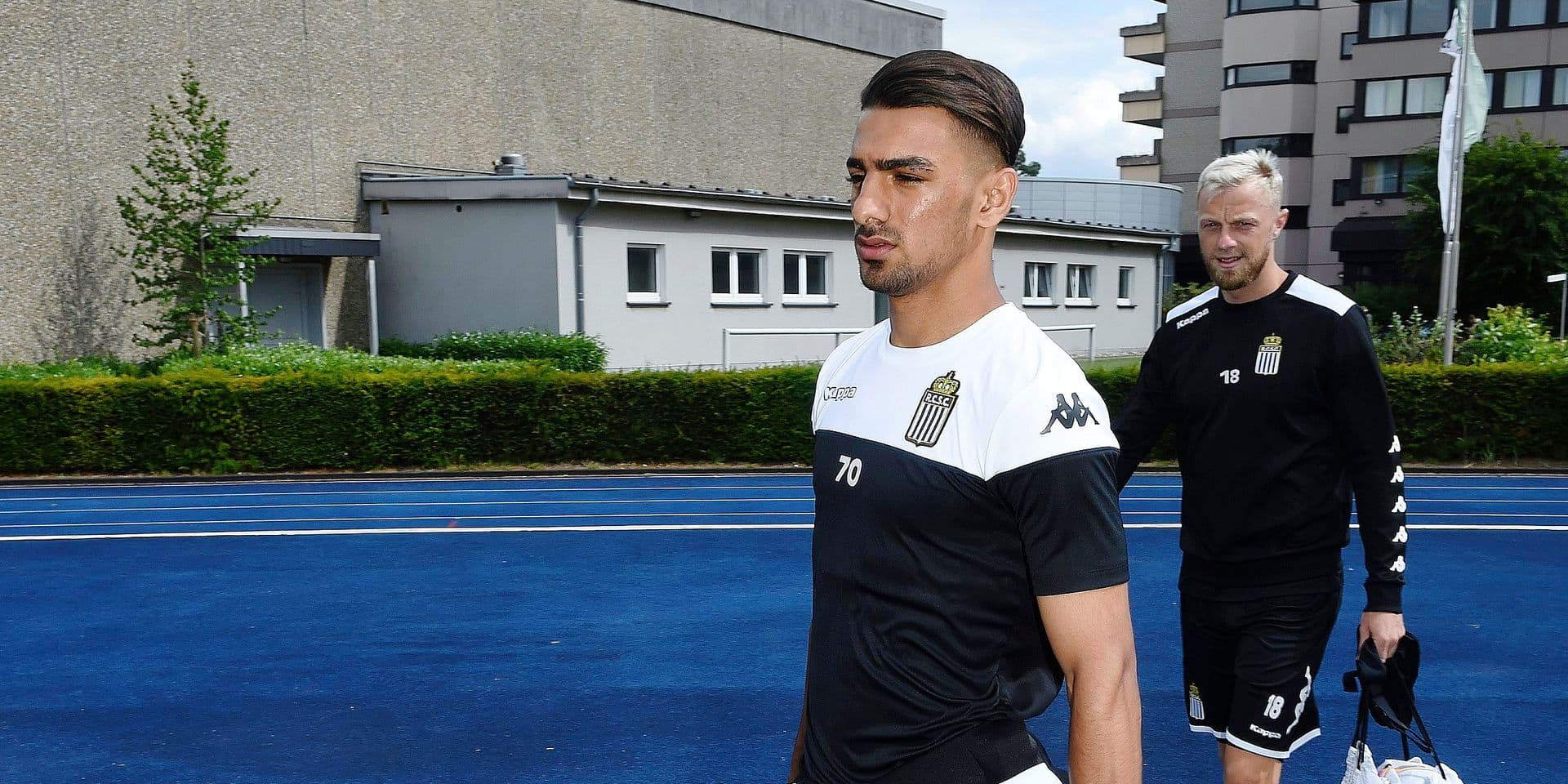 KAISERAU GERMANY- JULY 7 : Younes Delfi midfielder of Charleroi pictured during a pre-season training summer stage camp in Sporthotel in Kaiserau 07/07/2019 ( Photo by Philippe Crochet / Photonews