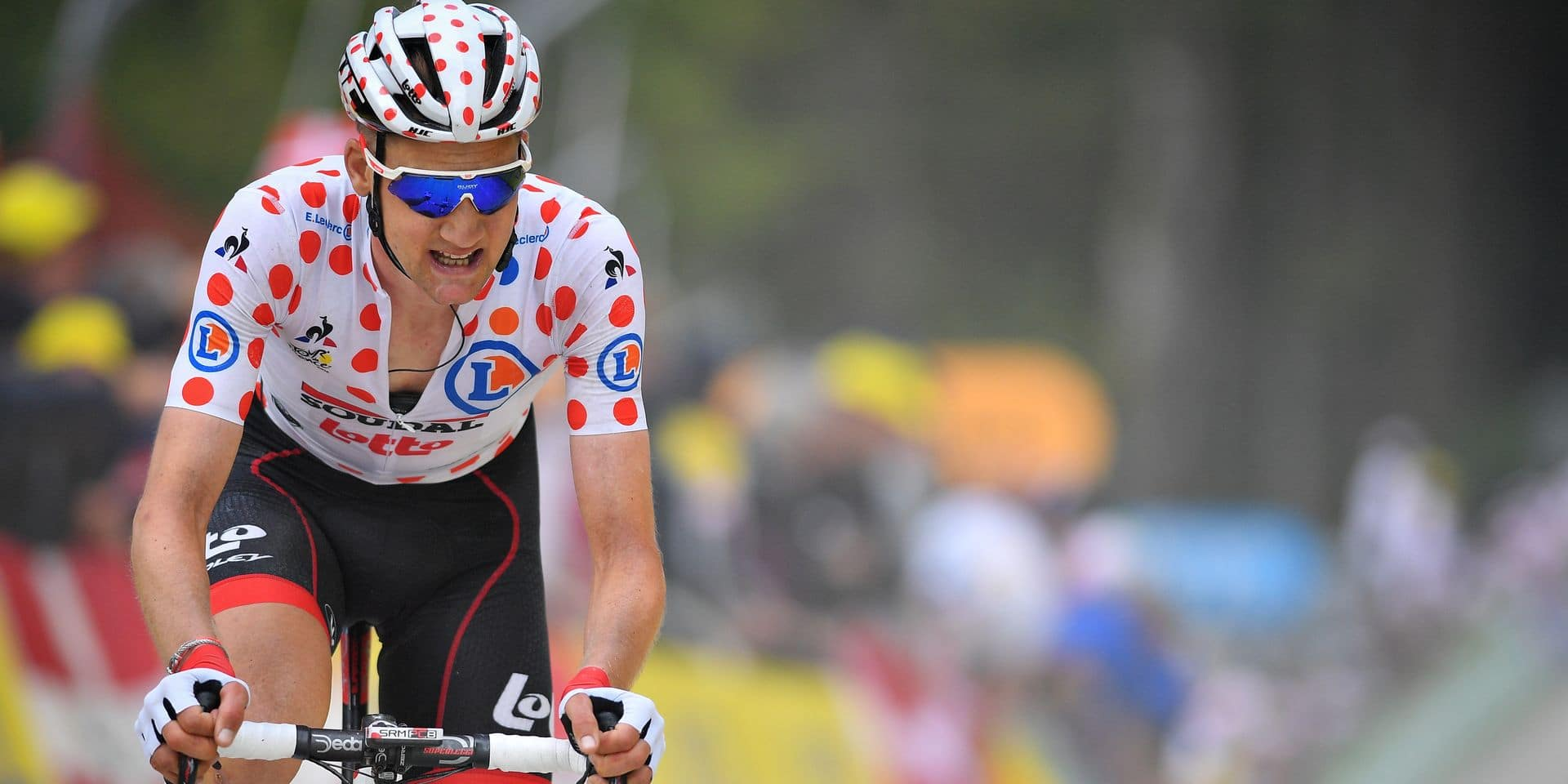 Belgian Tim Wellens of Lotto Soudal pictured in action during the sixth stage of the 106th edition of the Tour de France cycling race, from Mulhouse - La Planche des Belles Filles (160,5 km), Thursday 11 July 2019 in France. This year's Tour de France starts in Brussels and takes place from July 6th to July 28th. BELGA PHOTO DAVID STOCKMAN