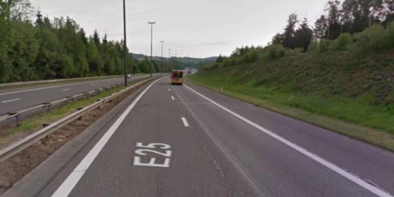 Accident sur l'autoroute E 25 : un blessé