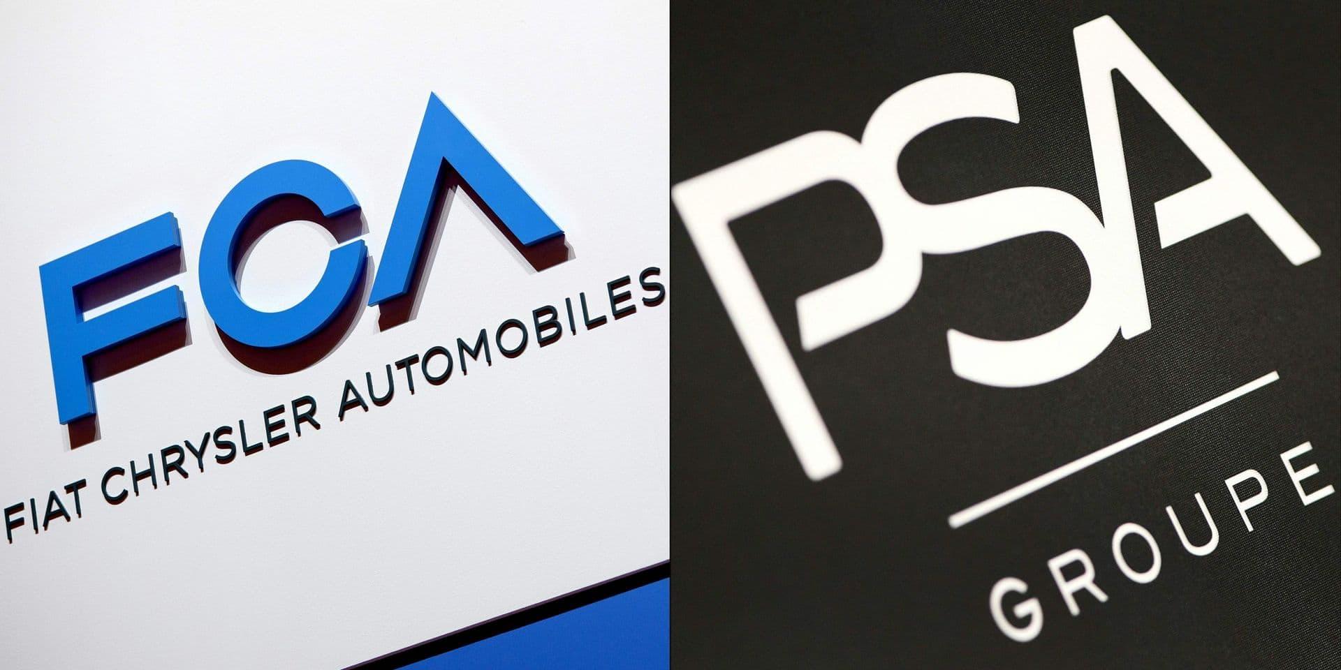 """Fiat Chrysler et PSA officialisent une """"fusion à 50/50"""""""