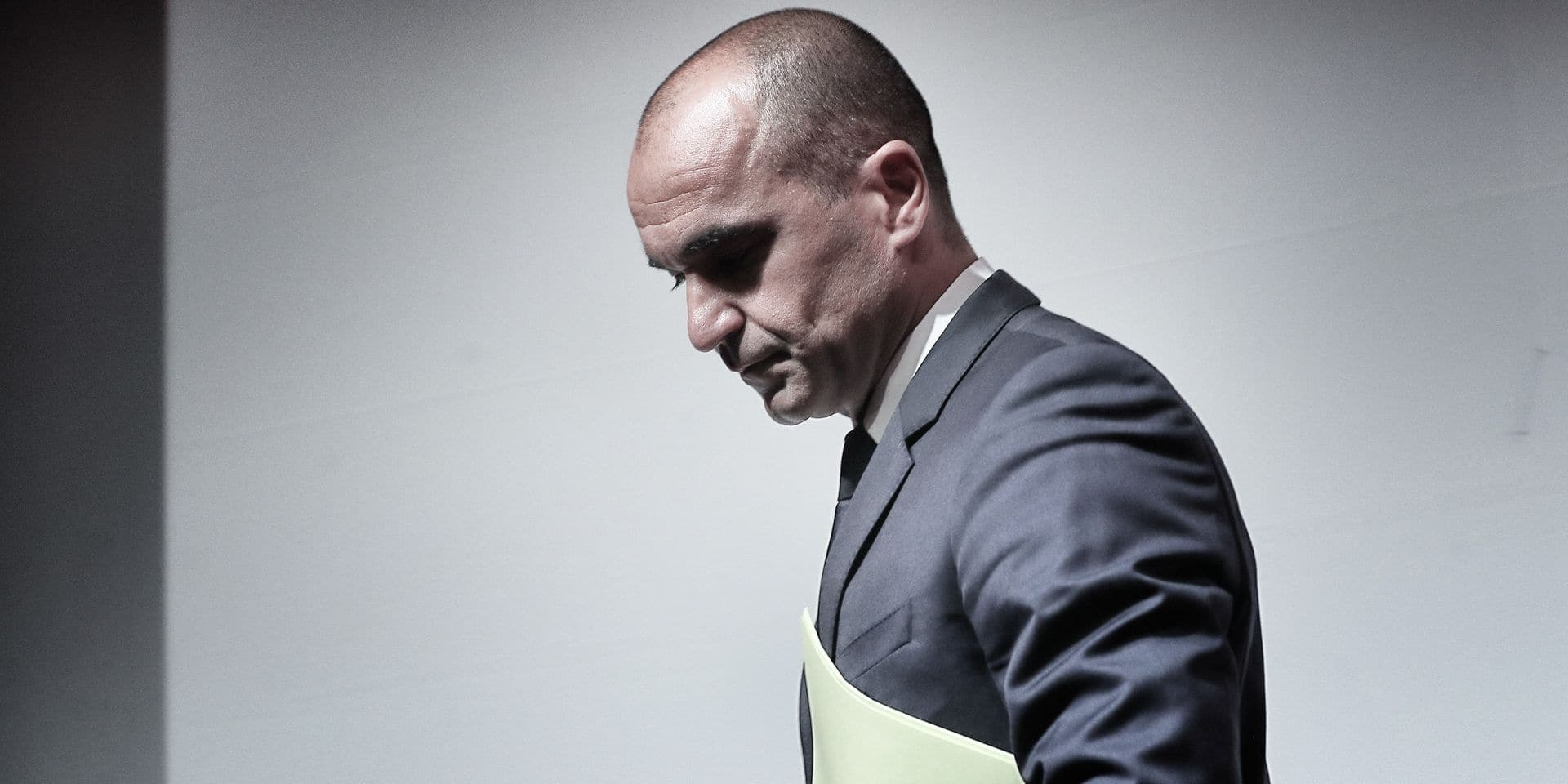 Belgium's head coach Roberto Martinez leaves after a press conference of Belgian national soccer team Red Devils head coach in Tubize, Friday 05 October 2018. The team is preparing for the Uefa Nations League match against Switzerland on 12 October and a friendly game against Netherlands on 16 October. BELGA PHOTO BRUNO FAHY