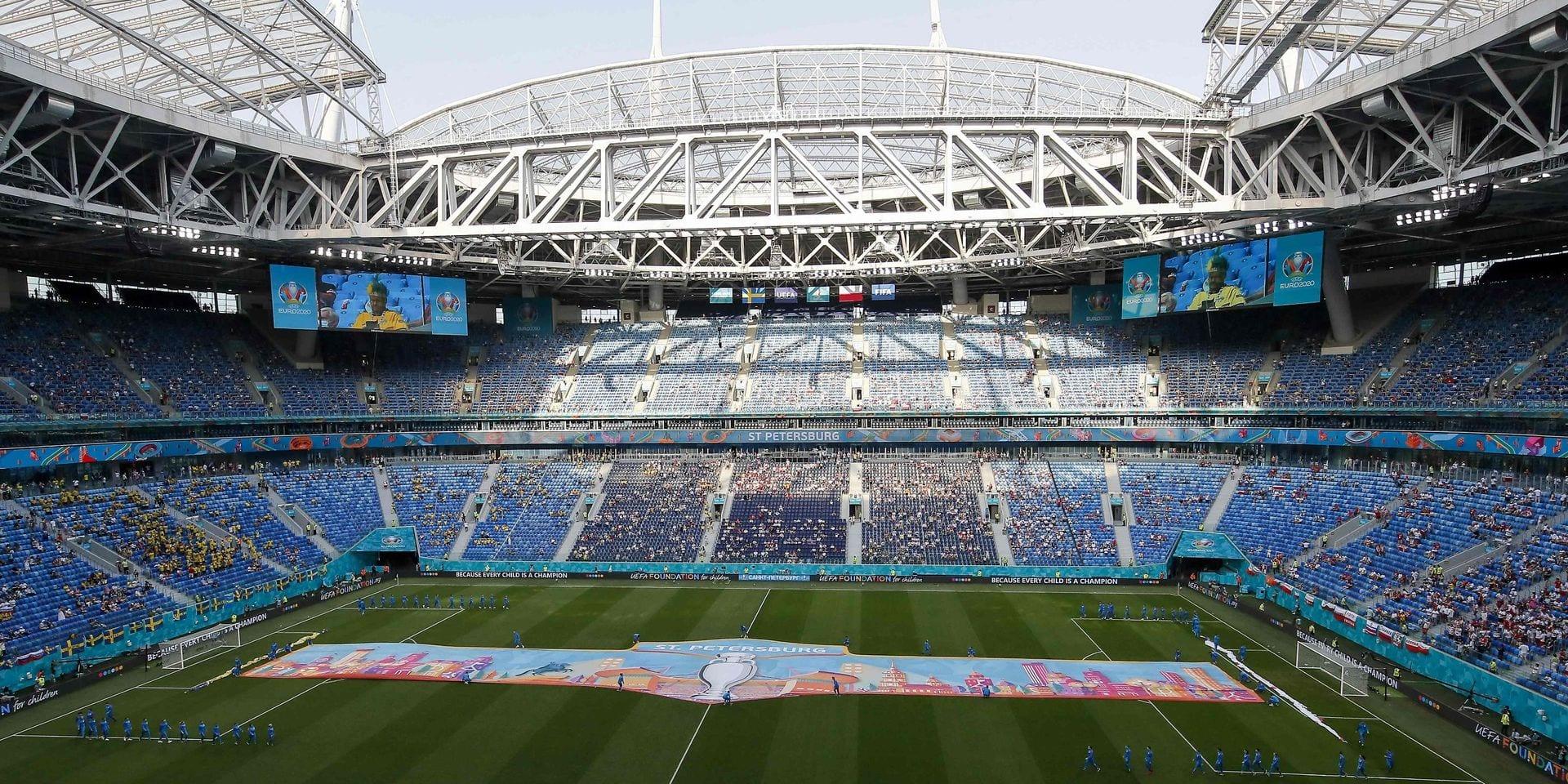Le quart de finale de l'Euro prévu à Saint-Pétersbourg maintenu malgré la flambée de Covid