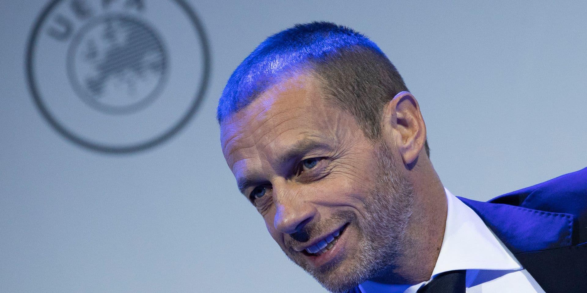 Le président de l'UEFA estime qu'il est trop tôt pour tirer un trait sur les compétitions