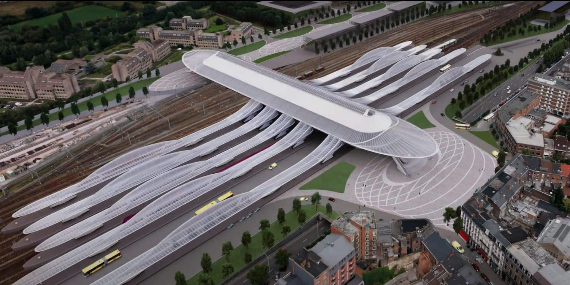 Mons: Pas encore lancés, les travaux des abords de la gare accusent déjà du retard