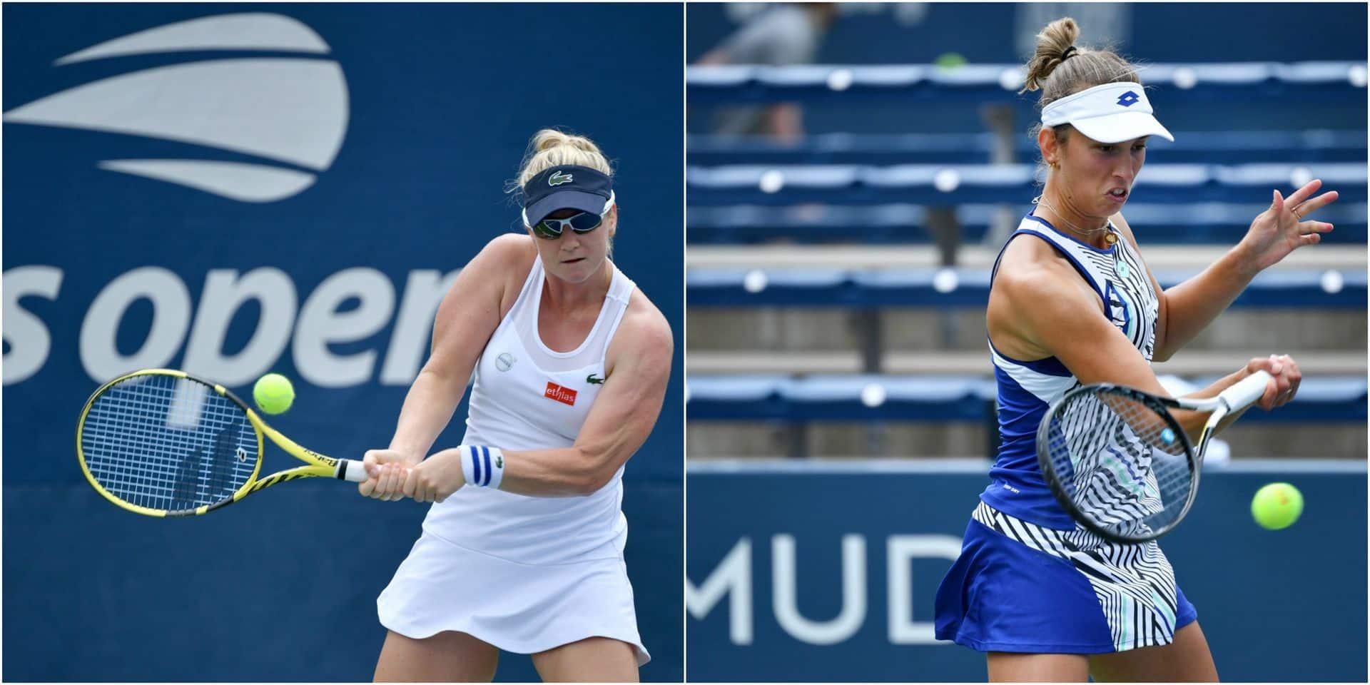 US Open: Ysaline Bonaventure éliminée au deuxième tour, le match d'Elise Mertens interrompu par la pluie
