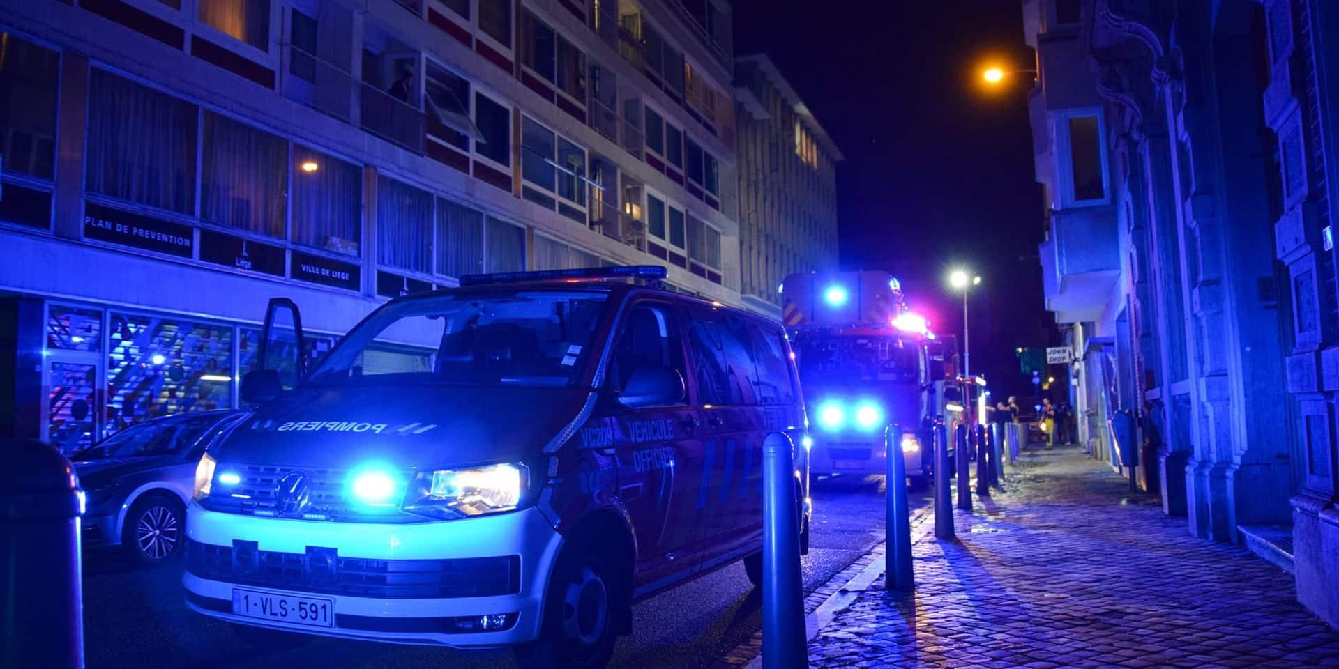 Liège : incendie dans un appartement suite à une casserole oubliée
