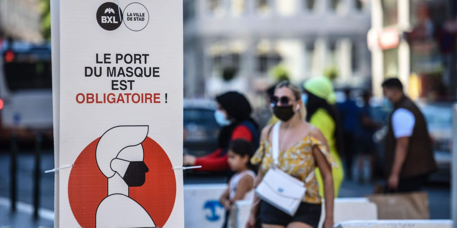 1.500 PV judiciaires délivrés pour non-respect du port du masque à Bruxelles-Ville