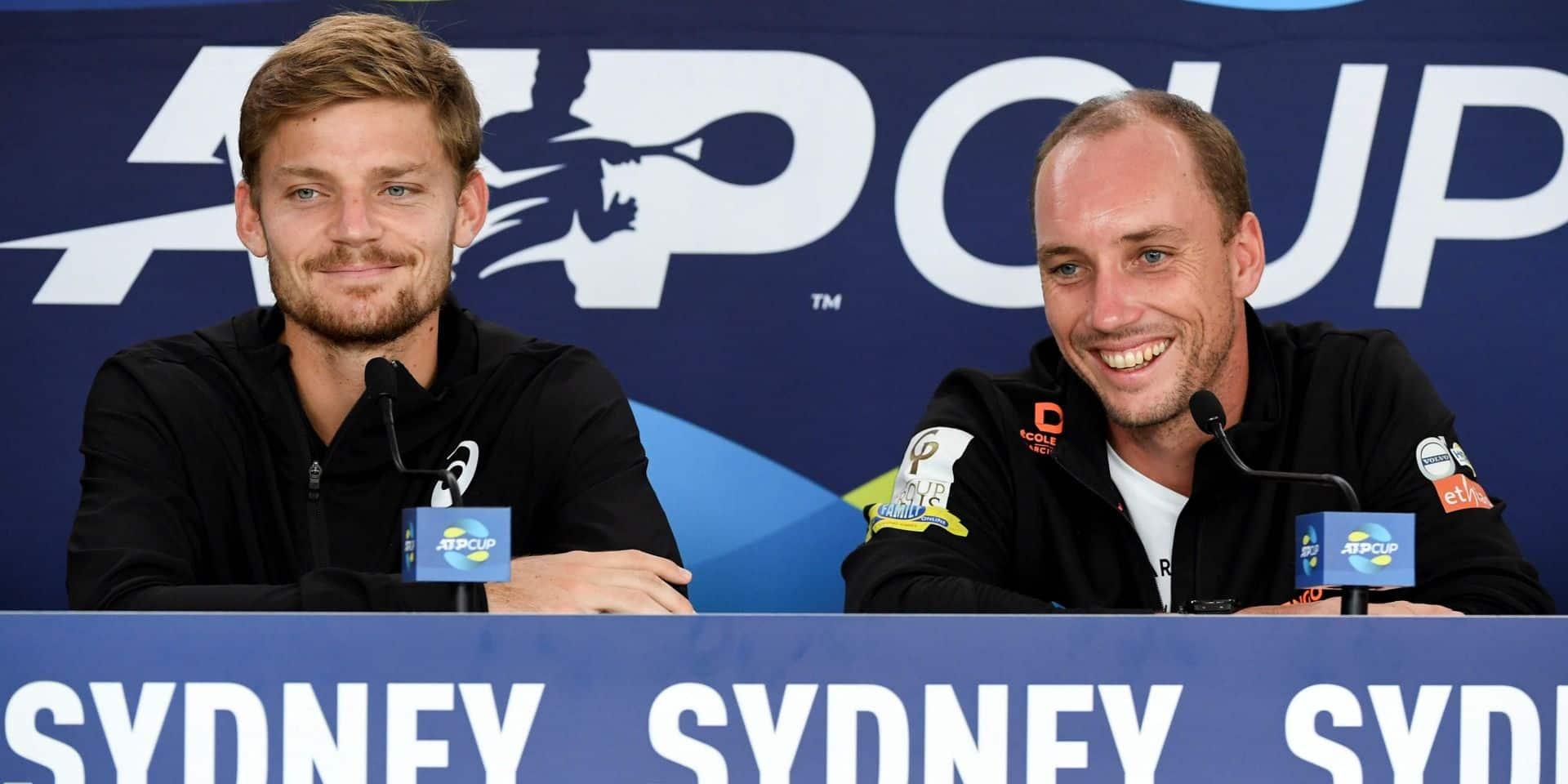 """Steve Darcis, capitaine-joueur à l'ATP Cup: """"Une belle expérience d'être sur le banc"""""""
