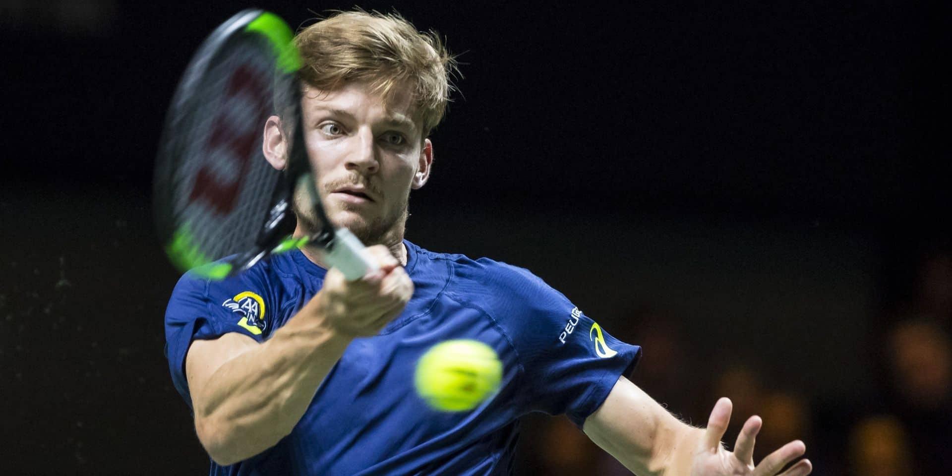 Marseille: David Goffin exempté de premier tour et contre un qualifié au deuxième