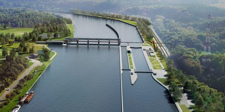Huy-Amay : nouvelle phase des travaux de l'écluse Ampsin-Neuville
