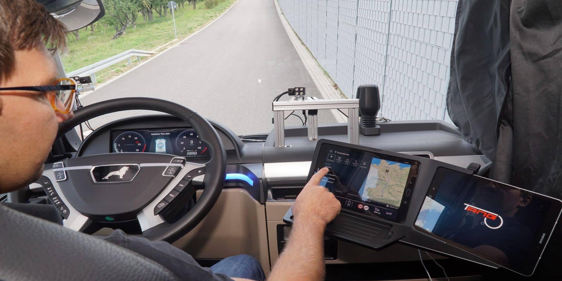 Camions sur nos routes : un projet de passager virtuel pour les conducteurs de poids lourds