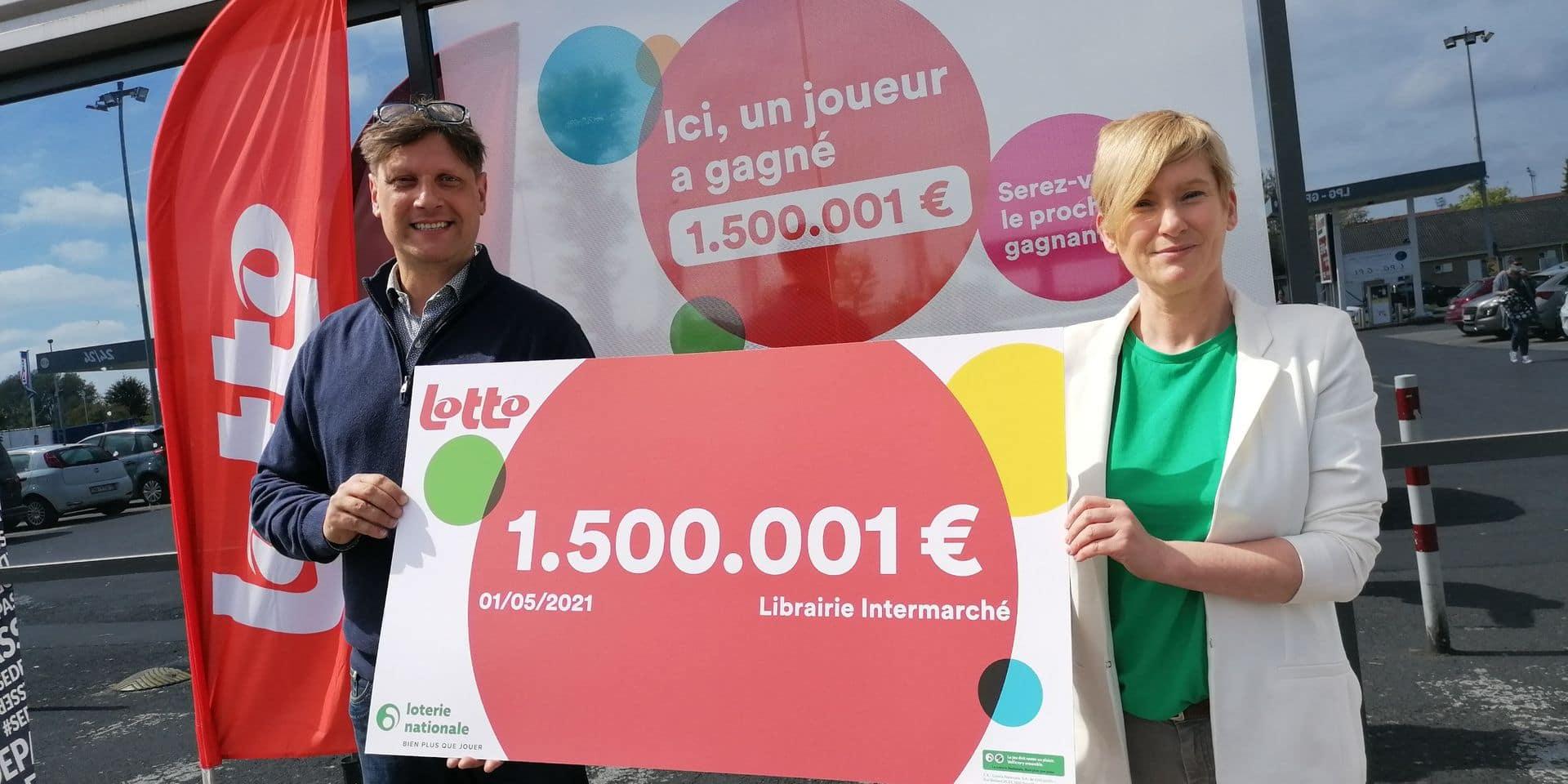 1,5 million d'euros, le gain remporté au Lotto par une retraitée dans une librairie mouscronnoise !