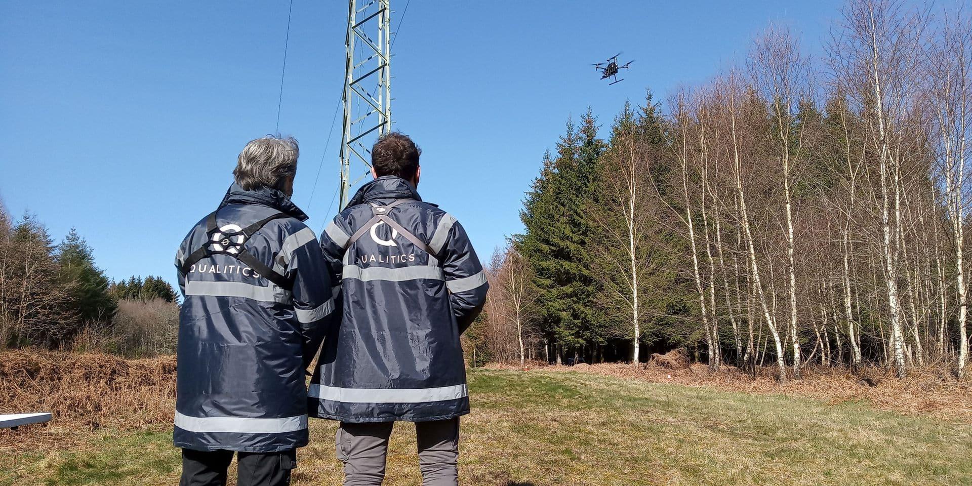 Des drones pour inspecter les pylônes électriques : une démonstration à Tenneville