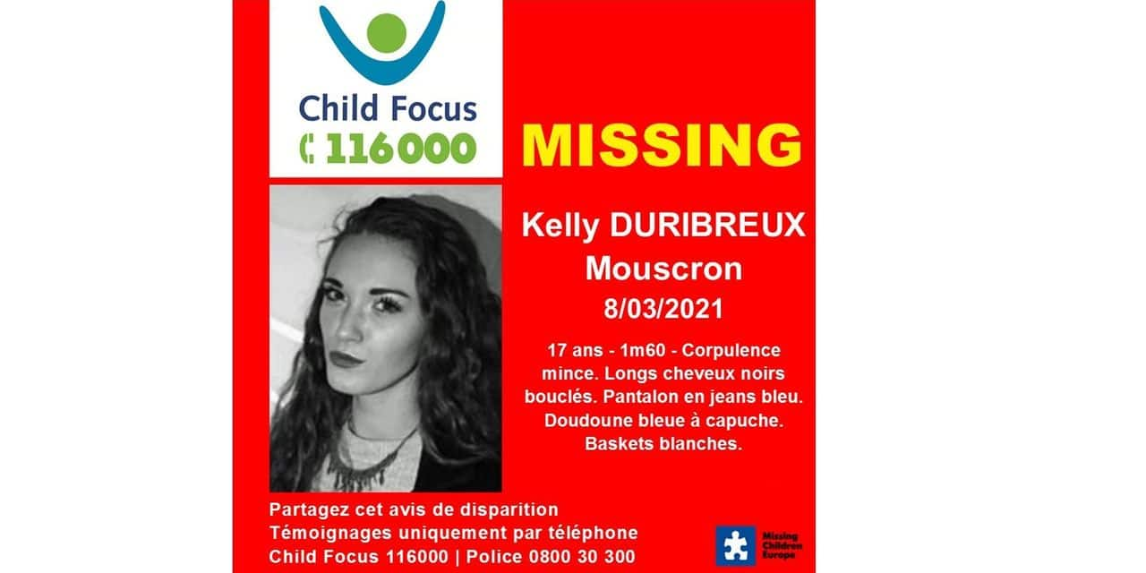 Mouscron: qui a vu Kelly, 17 ans?