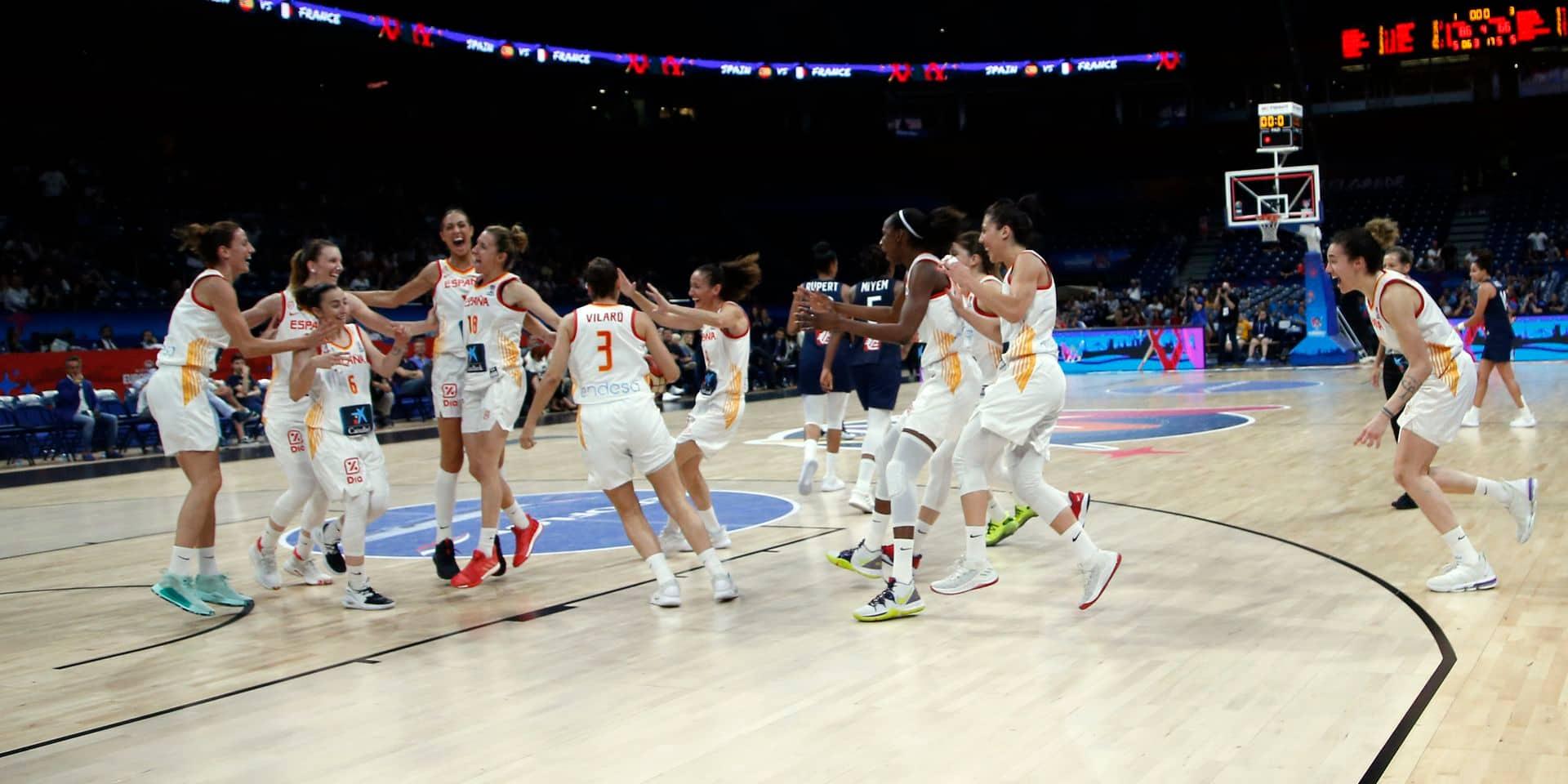 Euro de basket: la France corrigée en finale par l'Espagne