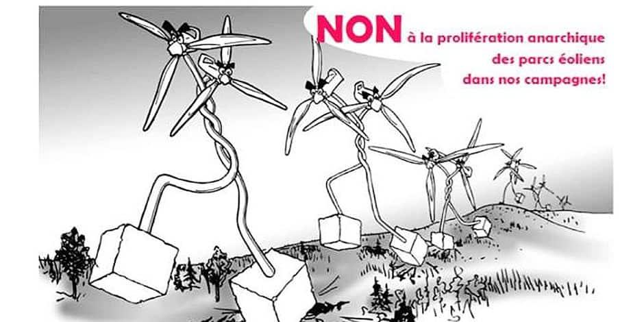 Chafour : ils disent non aux 4 éoliennes