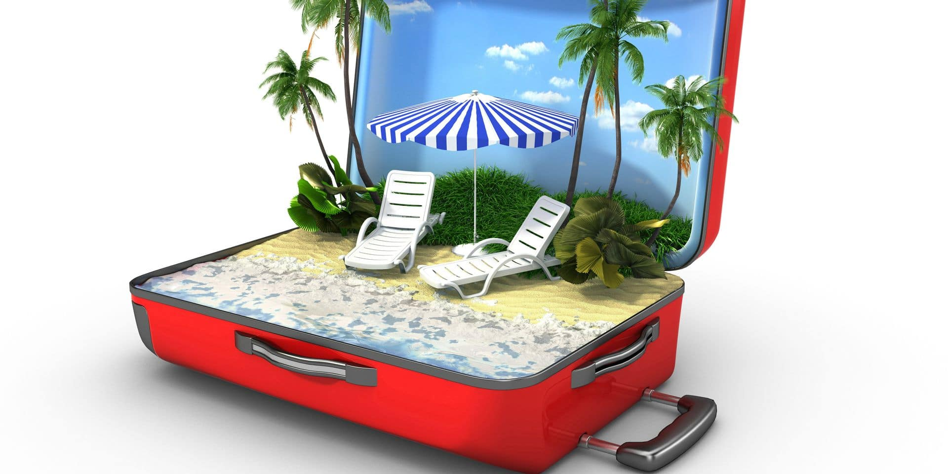 Open,Baggage,,Vacation,Concept