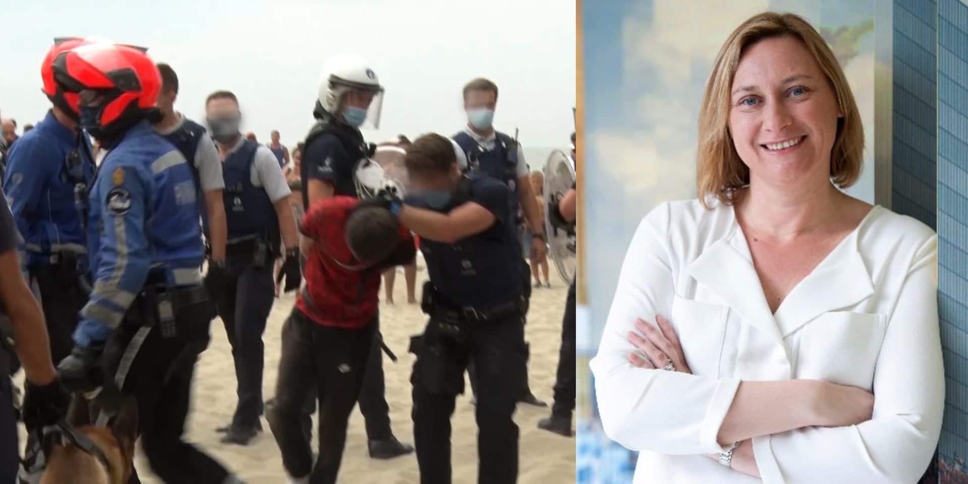 """La bourgmestre de Blankenberge après l'émeute de ce week-end: """"J'espère que ce n'est pas lié à un laxisme à Bruxelles"""""""