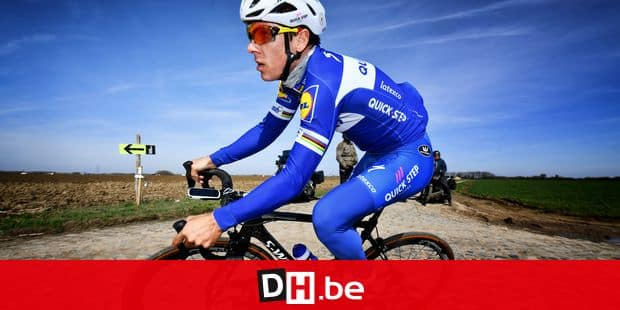 Belgian Philippe Gilbert of Quick-Step Floors pictured in action during a track reconnaissance, Friday 06 April 2018, ahead of Sunday's 'Paris-Roubaix' one day cycling race. BELGA PHOTO DAVID STOCKMAN