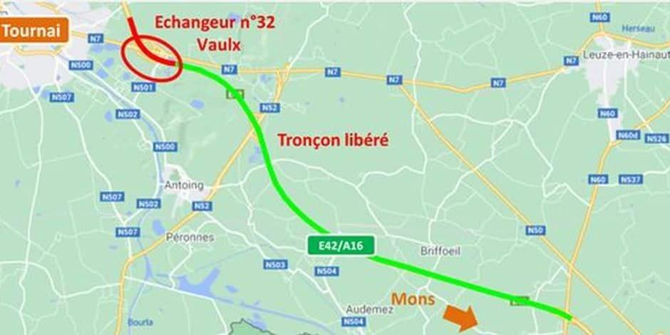 Péruwelz/Vaulx : le chantier de l'E42 bientôt terminé