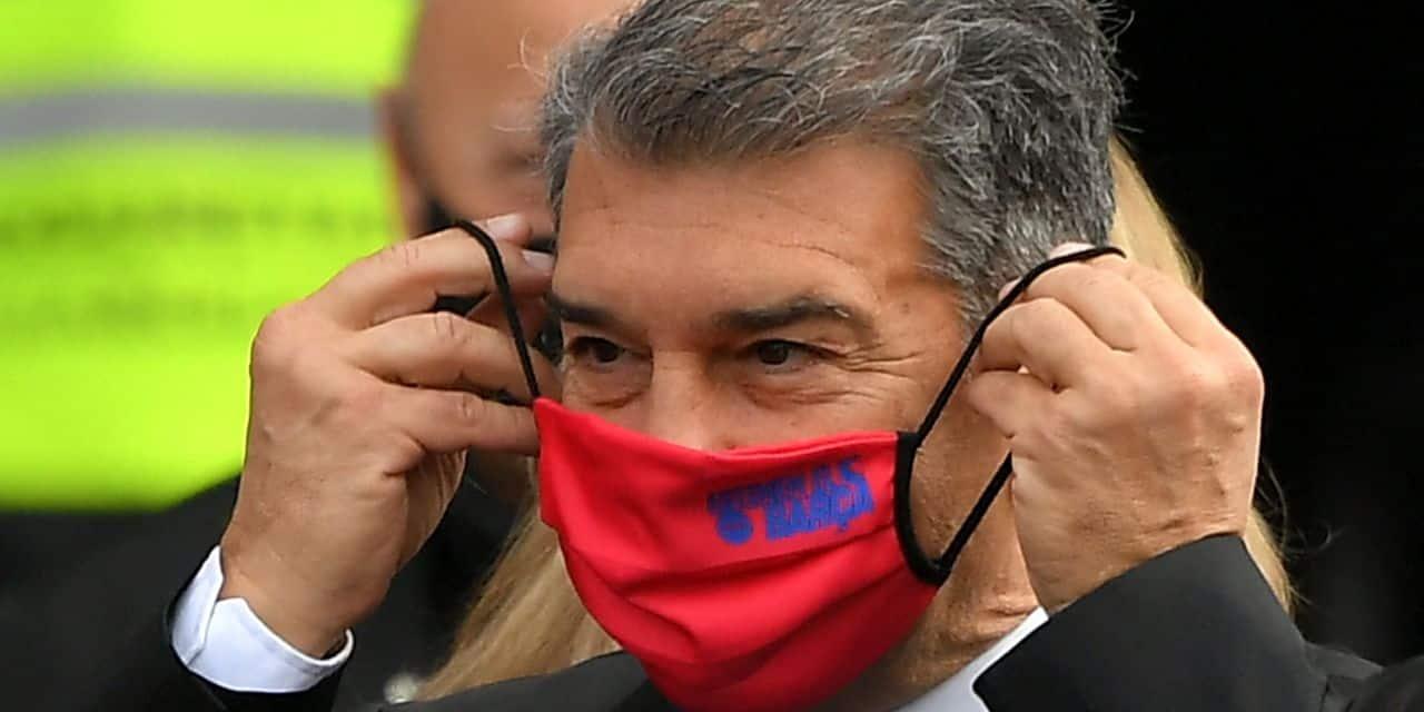 Joan Laporta remporte les élections présidentielles du FC Barcelone avec environ 58% des voix - dh.be