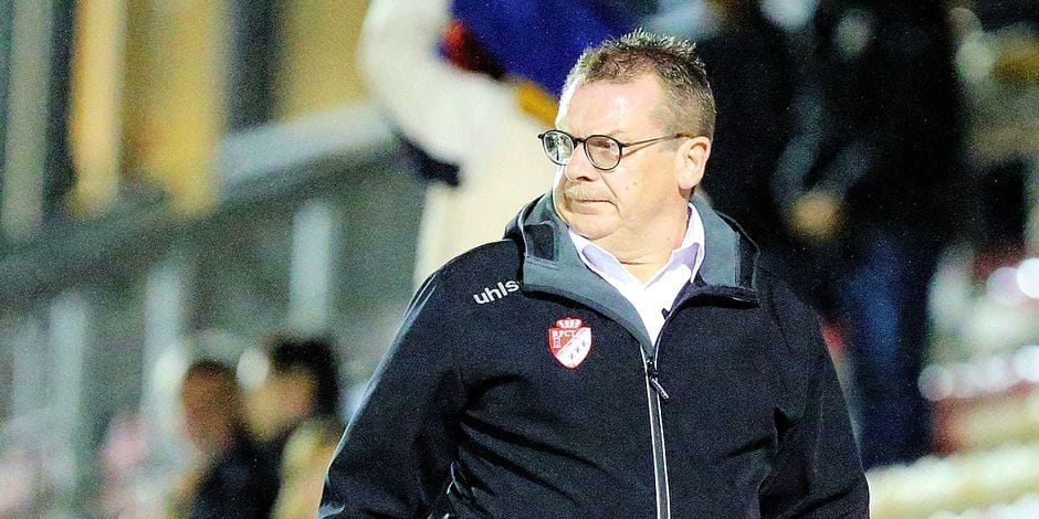 OLIVIER Philippe président des Sang & or *** Local Caption *** Stade Luc Varenne à Tournai