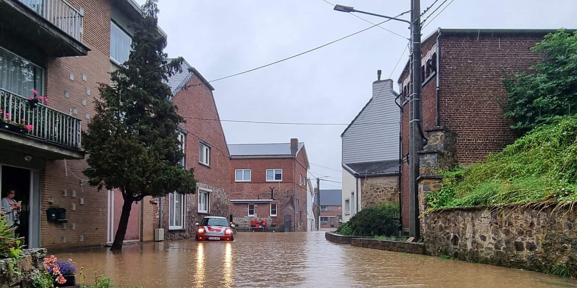 Quévy: Des pompages toujours en cours à la suite des inondations ce vendredi matin