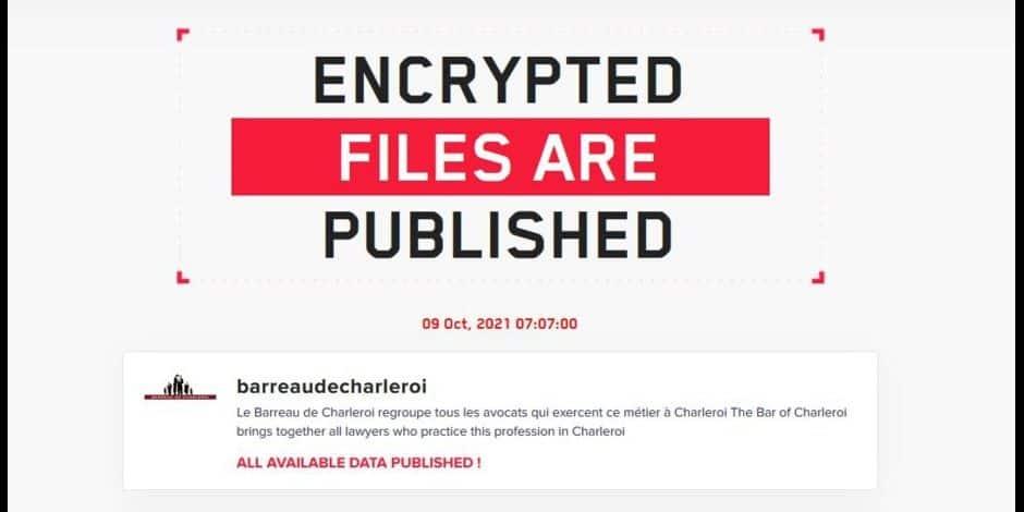 Les pirates ont balancé en ligne les fichiers des avocats de Charleroi