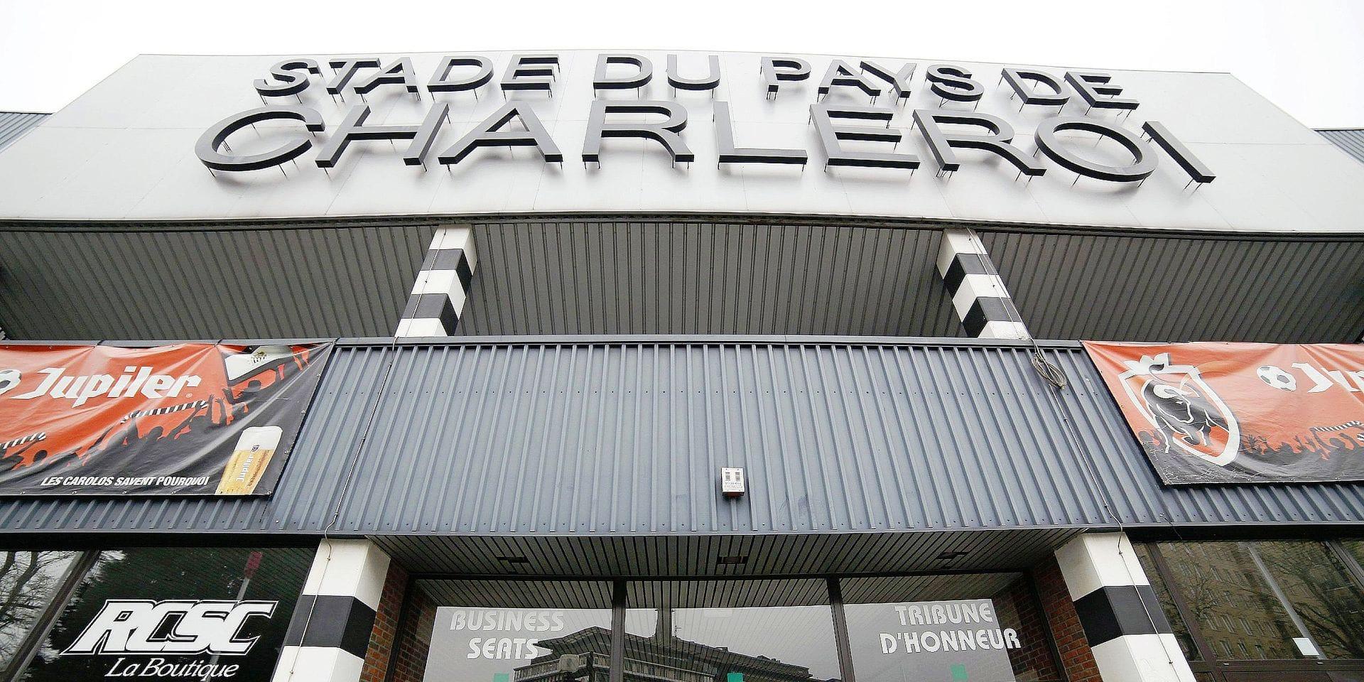 20101122 - CHARLEROI, BELGIUM: Illustration shows the stade du Pays de Charleroi stadium of Belgian first league soccer team Sporting de Charleroi, Monday 22 November 2010 in Charleroi. BELGA PHOTO BRUNO FAHY