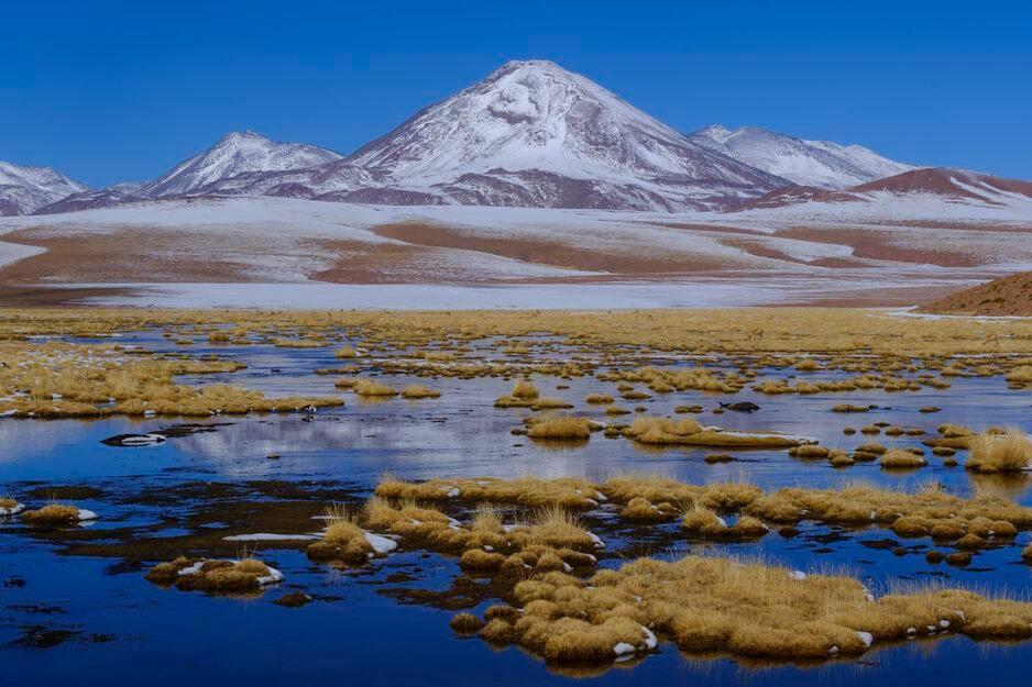 Un paysage du désert d'Atacama au Chili