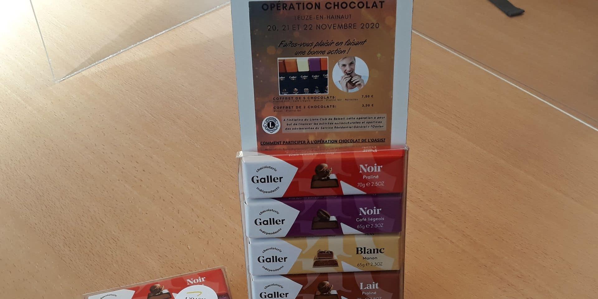 Leuze : opération chocolat prolongée jusqu'en décembre par Oasis !