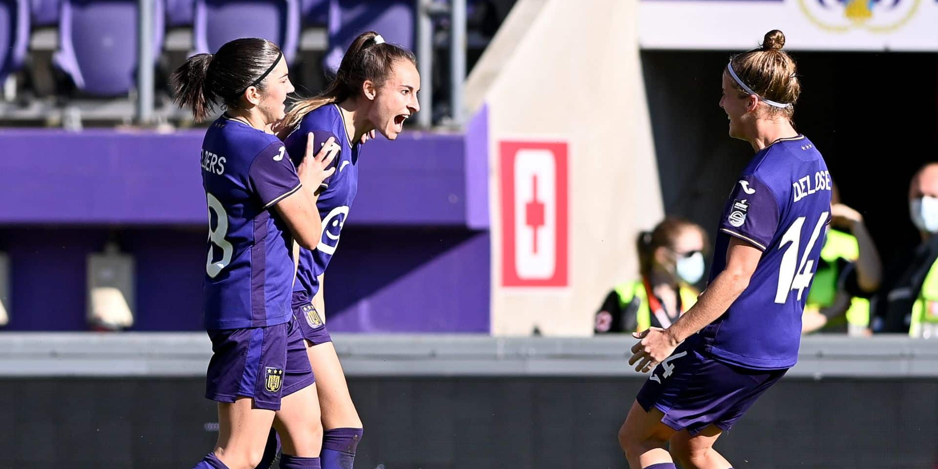 Anderlecht bat le Standard pour le premier Clasico féminin de la saison (4-1)