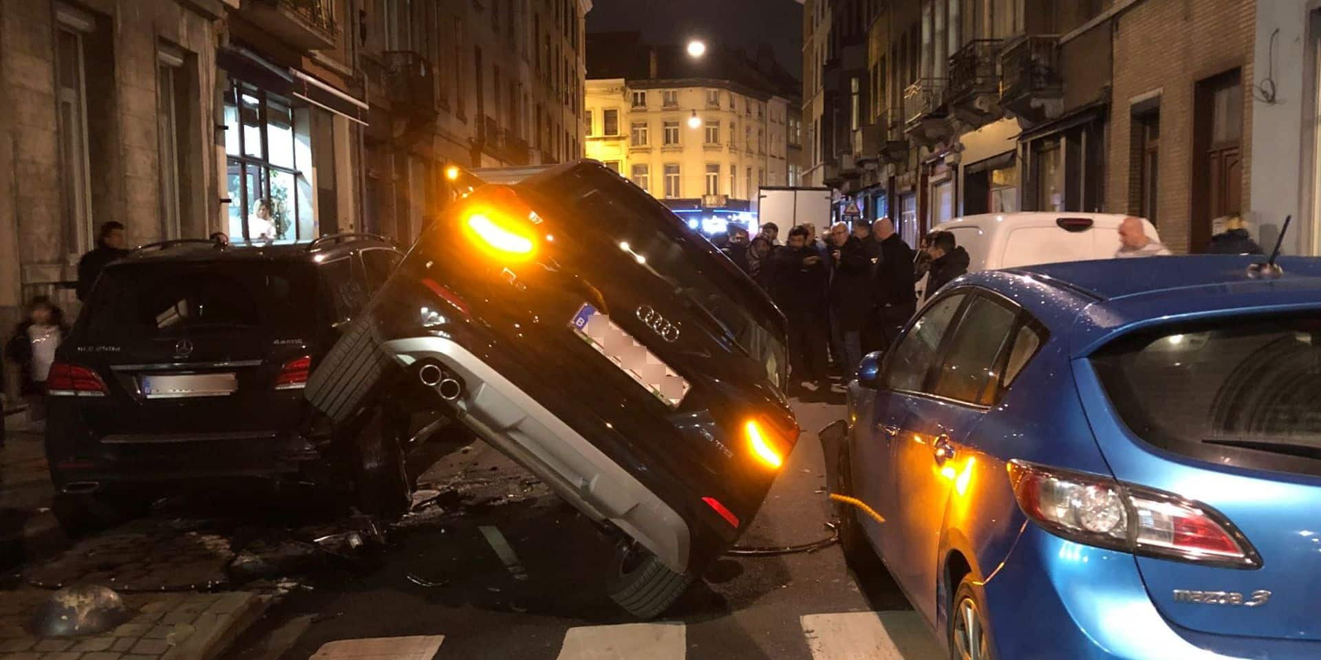 Schaerbeek : Un spectaculaire accident fait trois blessés rue Josaphat
