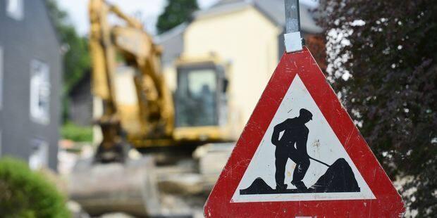 Thuin: travaux sur la route de Biesme