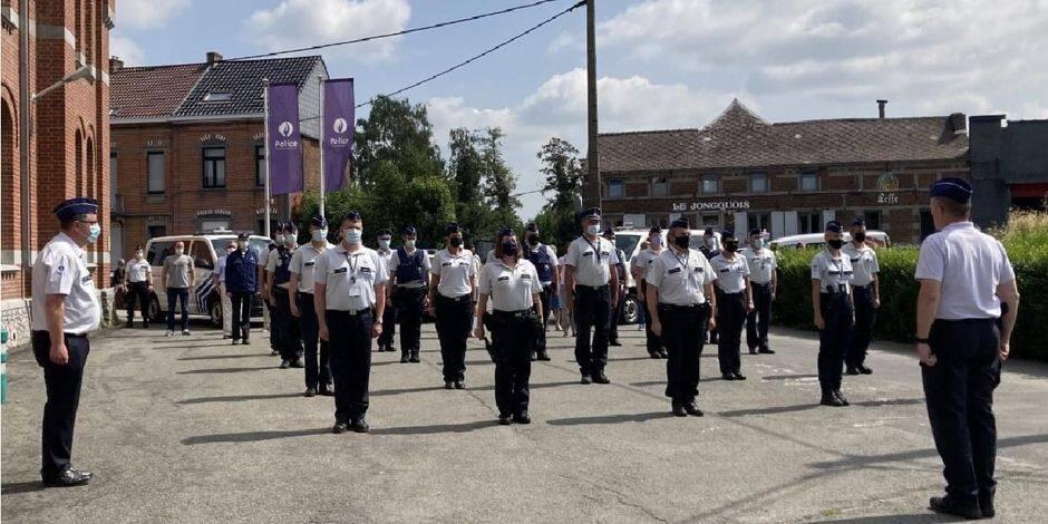 Les policiers de la région du Centre rendent hommage aux victimes des inondations