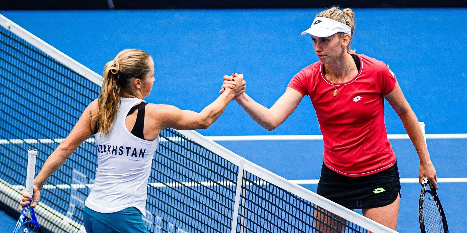 """Fed Cup: Elise Mertens: """"J'ai atteint un meilleur niveau que contre Diyas"""""""