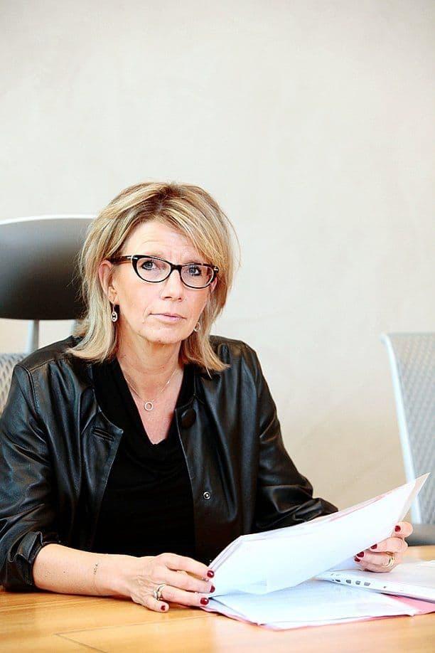 Fabienne Bayard. Reste présidente du tribunal de l'entreprise de Liège