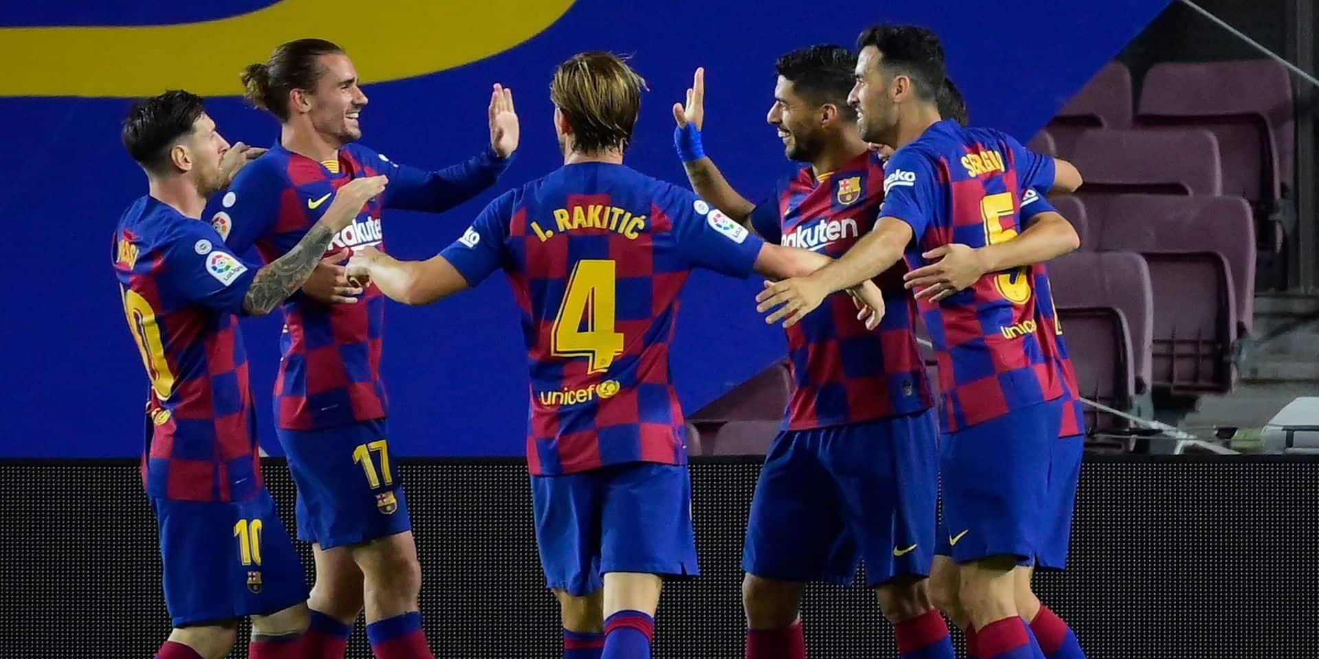 Le Barça reste en course et condamne l'Espanyol à la relégation