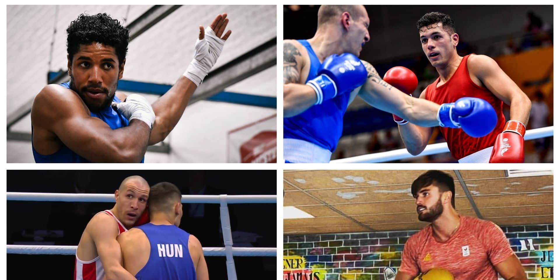 """Ces 4 boxeurs belges qui peuvent encore prétendre aux JO : """"Aller à Tokyo, ce serait le rêve !"""""""