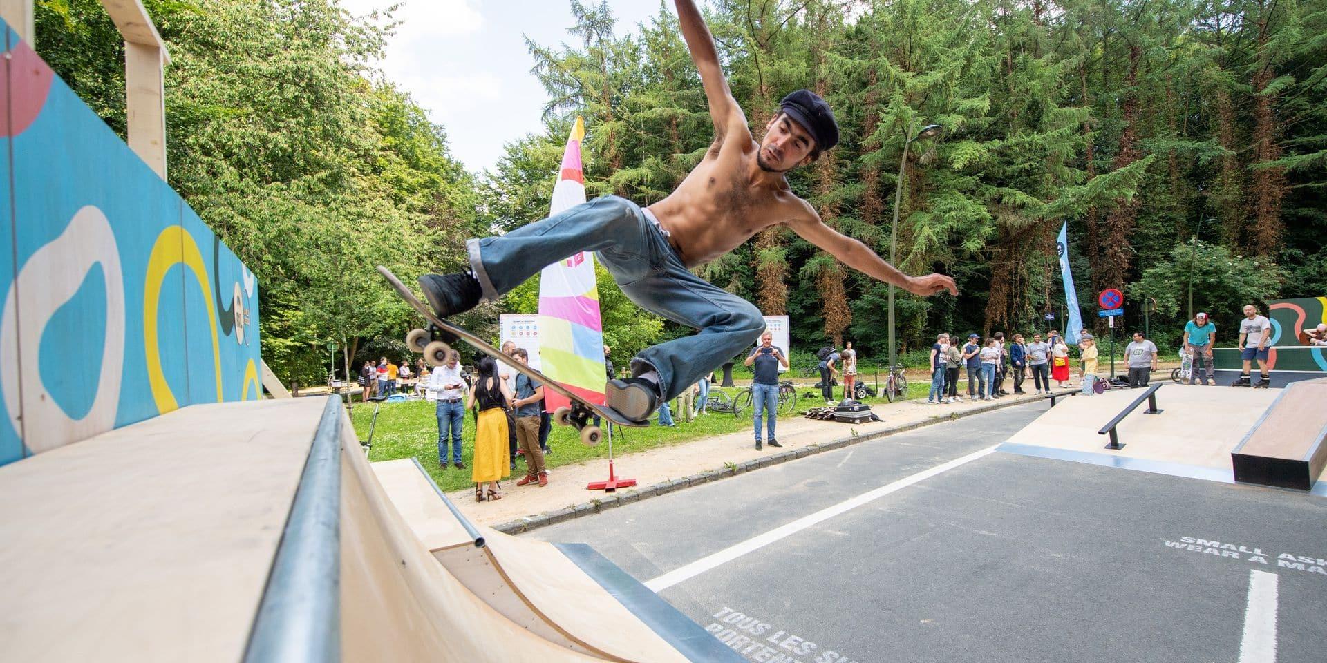 Un nouveau skate park en plein coeur du bois de la Cambre