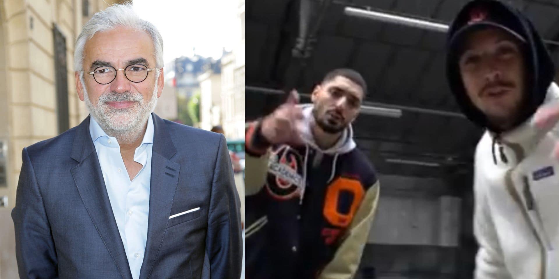 """Pour les rappeurs Sneazzy et Nekfeu, le journaliste """"amateur"""" Pascal Praud """"mérite une balle dans le cervelet"""""""