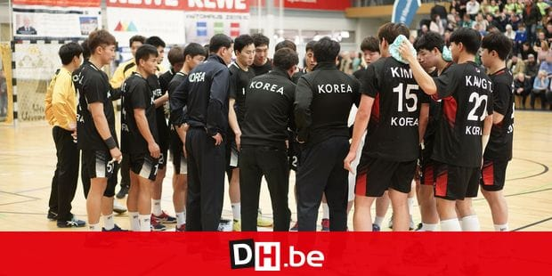 07 January 2019, Brandenburg, Oranienburg: Final test match of the first German group opponent Korea at the Oranienburger HC in the MBS-Arena. Korean team time-out. Photo: Jörg Carstensen/dpa Reporters / DPA