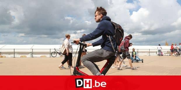 segway sur la digue a Ostende